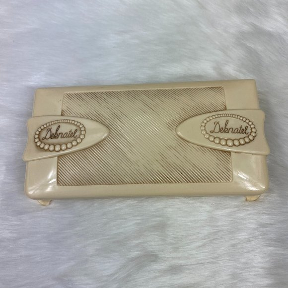 Vintage Celluloid Deknatel Pearl Case Box